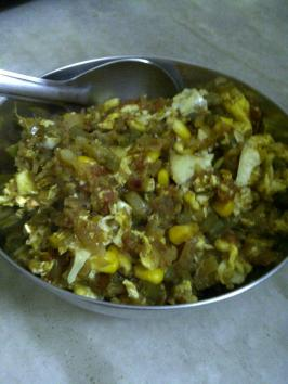 Spicy Scrambled Eggs with Vegetables